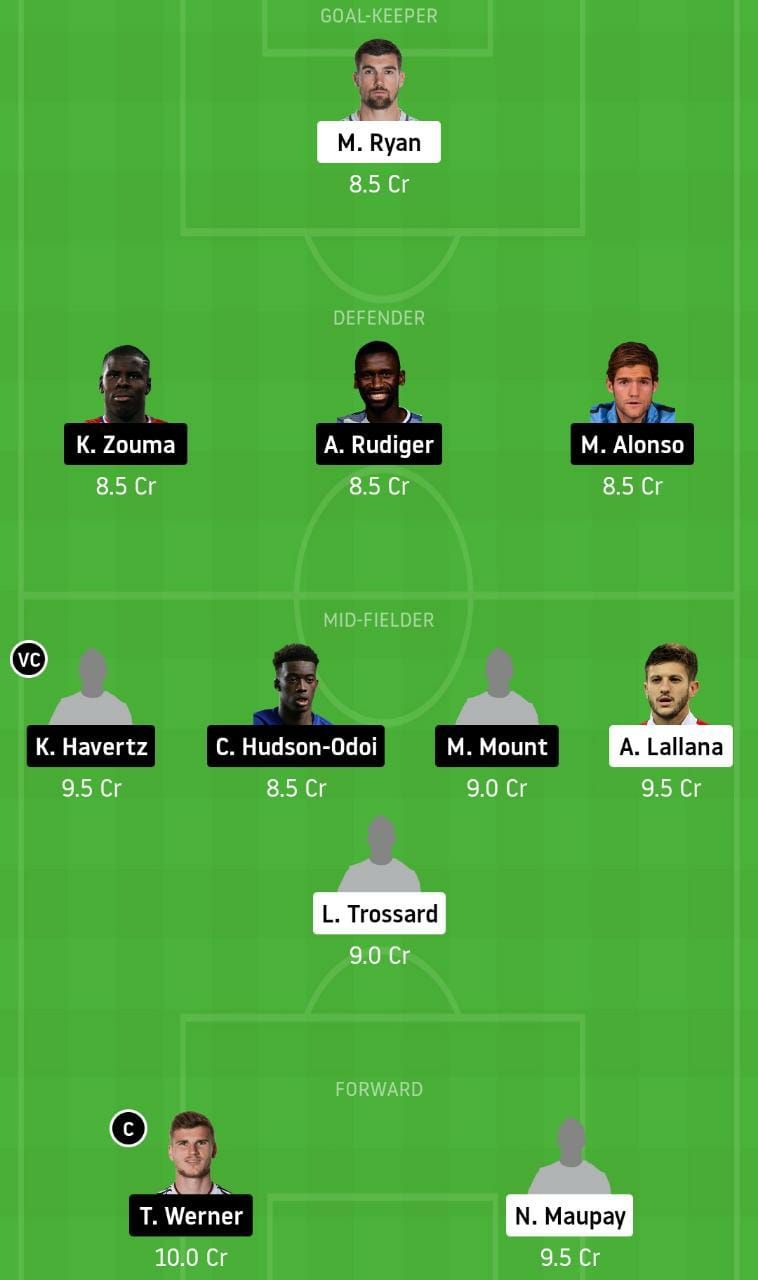BHA vs CHE Dream11 Team - Experts Prime Team