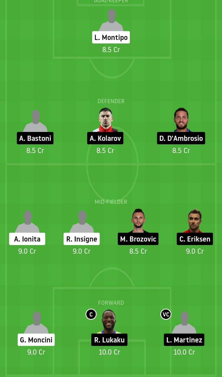 BNV vs INT Dream11 Team - Experts Prime Team