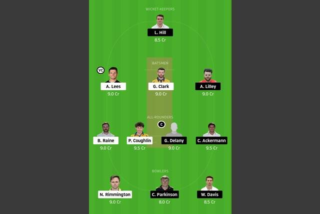 DUR vs LEI Dream11 Team - Experts Prime Team