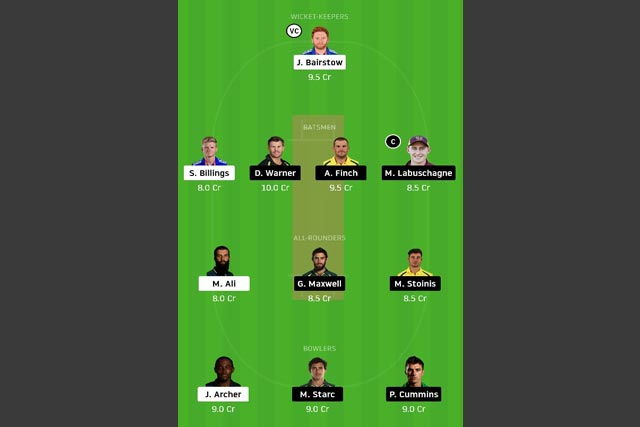 ENG vs AUS Dream11 Team - Experts Prime Team