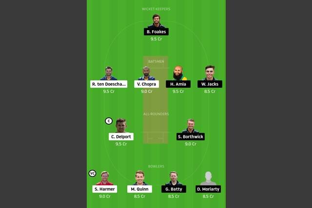 ESS vs SUR Dream11 Team - Experts Prime Team