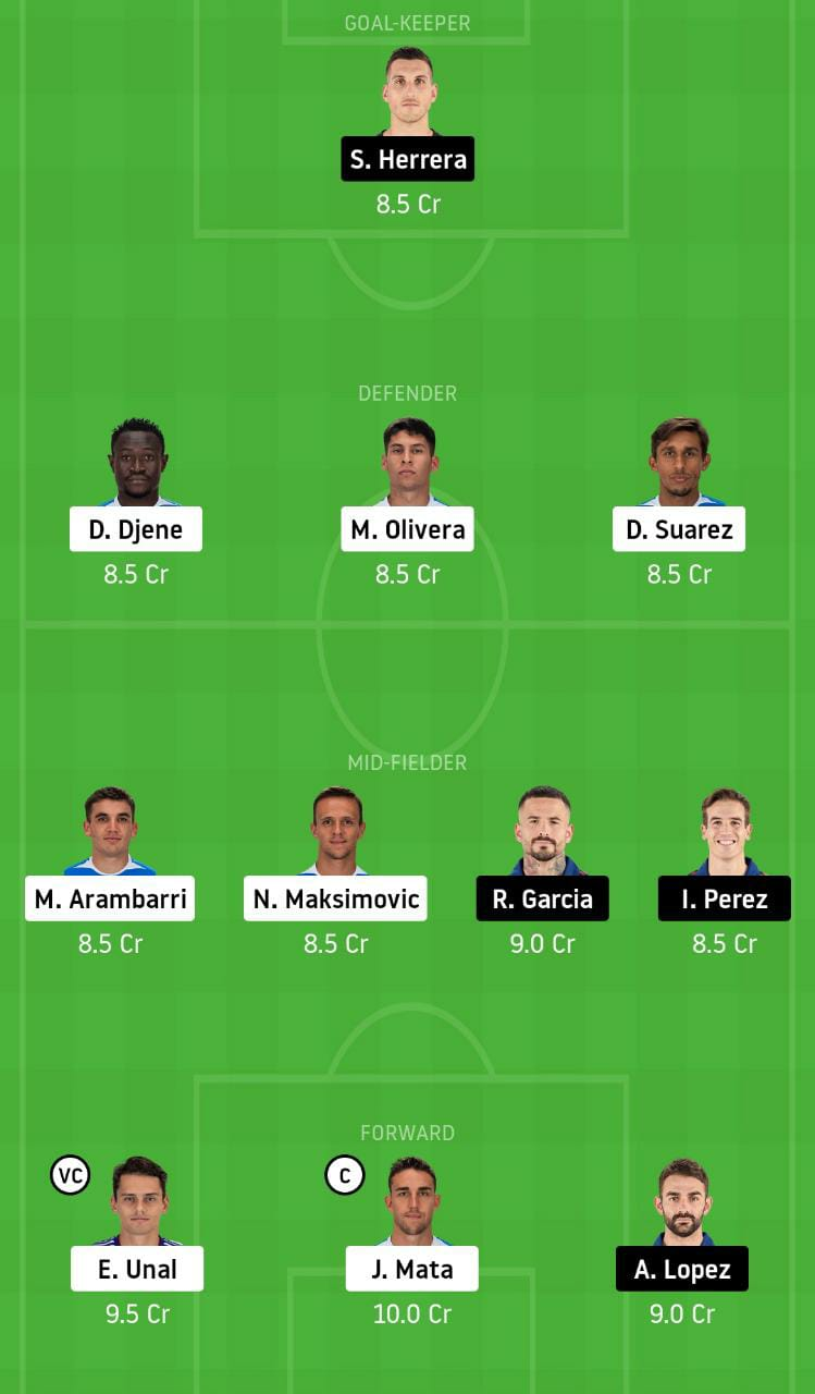 GEF vs OSA Dream11 Team - Experts Prime Team