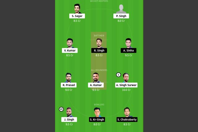 JAM vs DUM Dream11 Team - Experts Prime Team