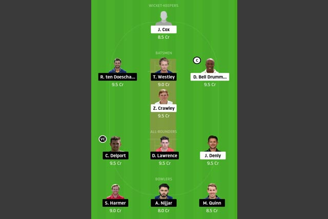 KET vs ESS Dream11 Team - Experts Prime Team