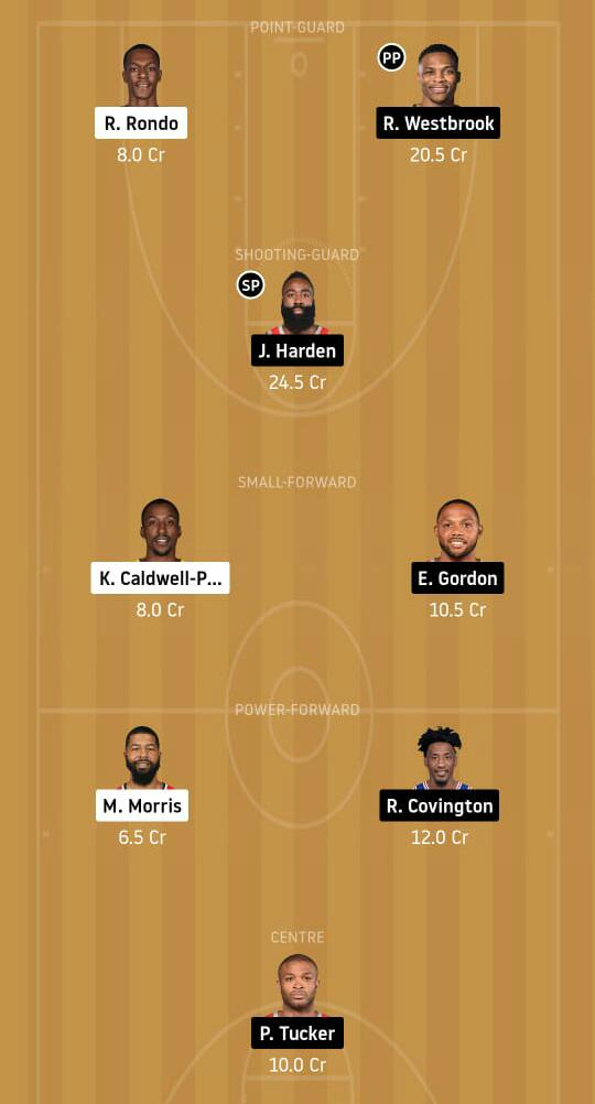 LAL vs HOU Dream11 Team - Experts Prime Team