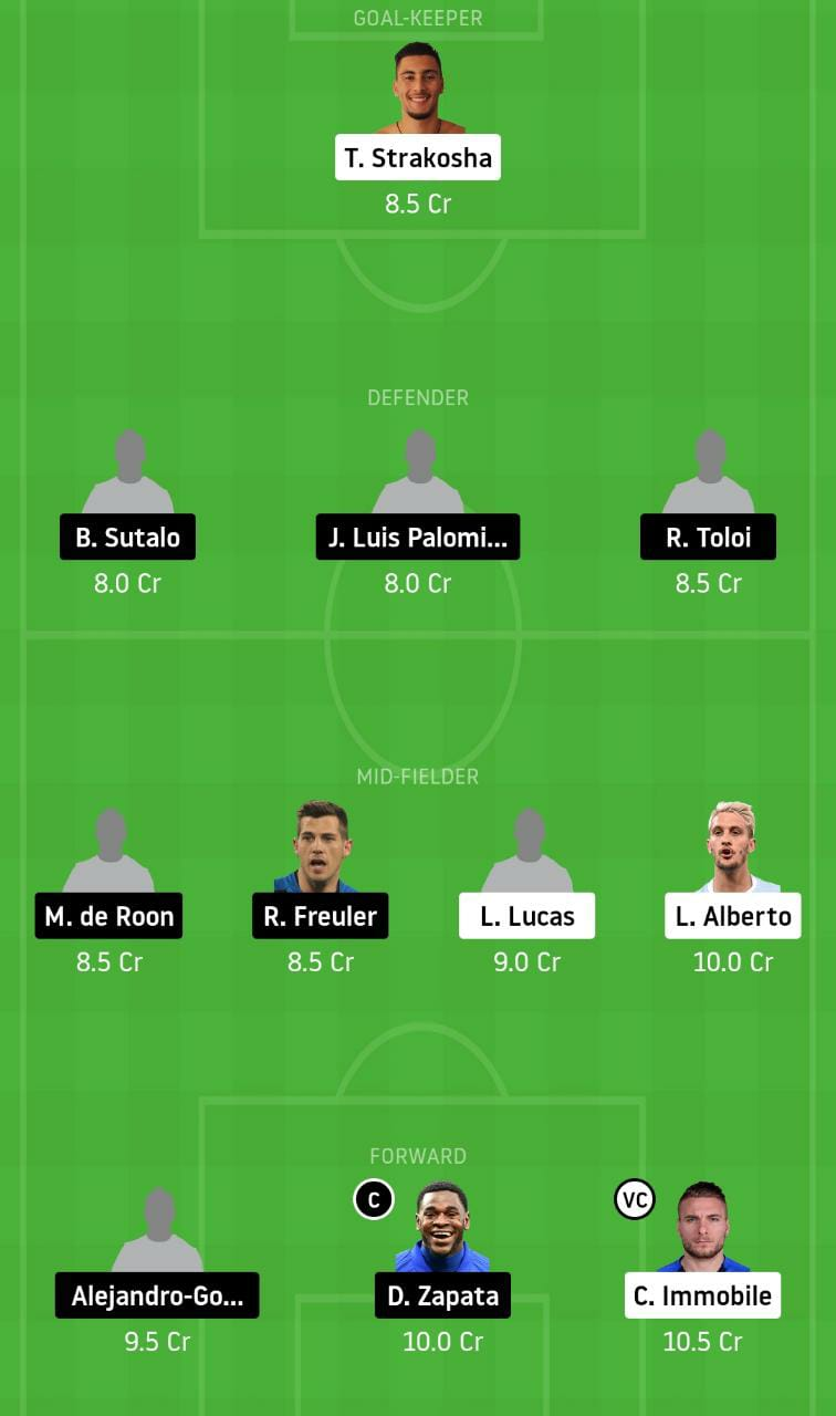 LAZ vs ATN Dream11 Team - Experts Prime Team