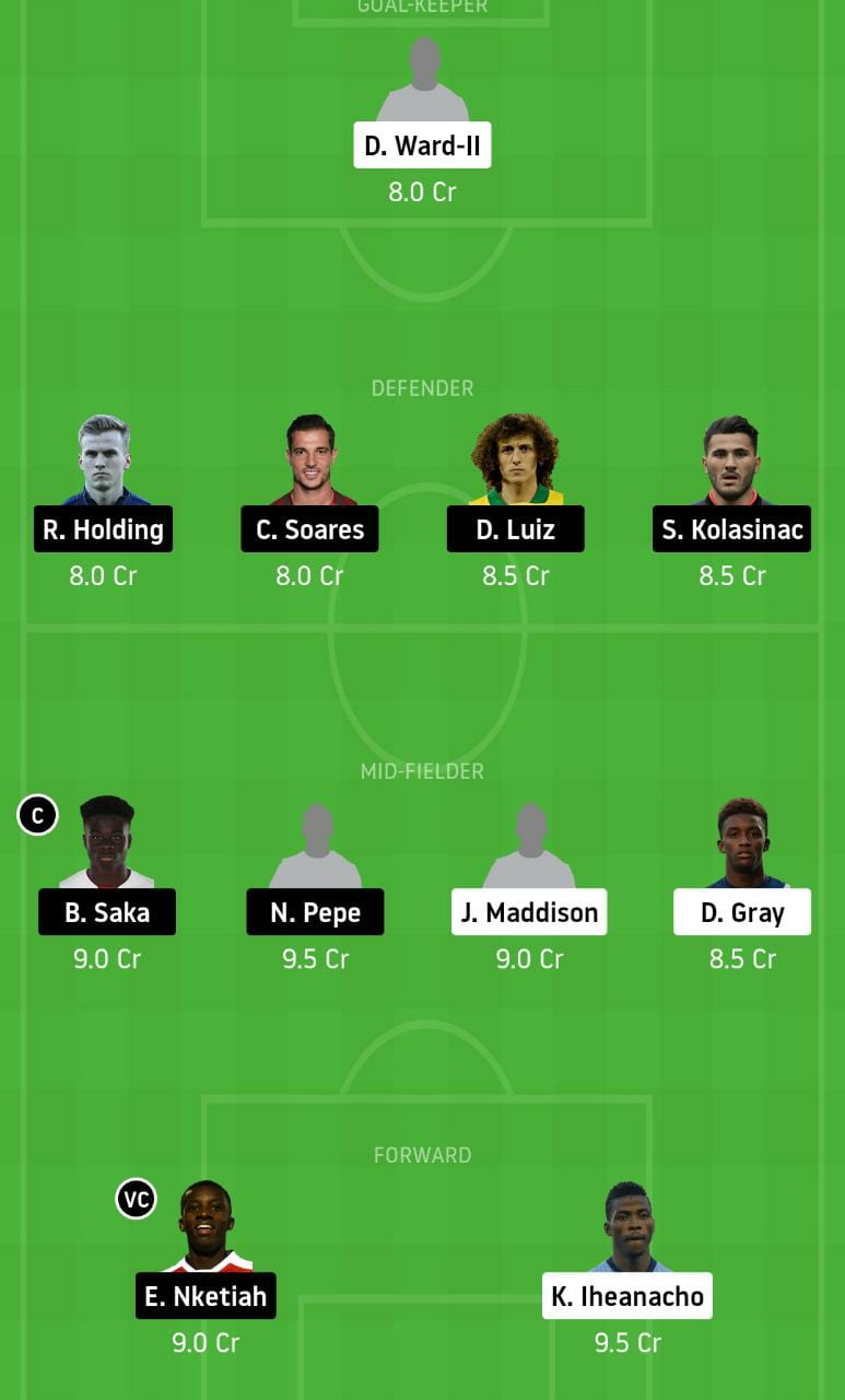 LEI vs ARS Dream11 Team - Experts Prime Team