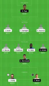 LEI vs BUR Dream11 Team - Experts Prime Team