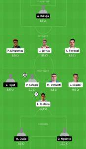 PSG vs MET Dream11 Team - Experts Prime Team