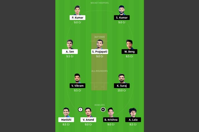 RAN vs SIN Dream11 Team - Experts Prime Team