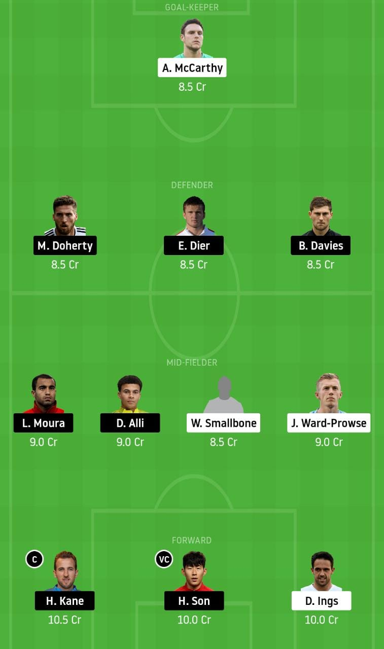 SOU vs TOT Dream11 Team - Experts Prime Team