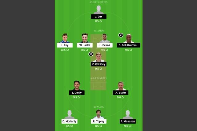 SUR vs KET Dream11 Team - Experts Prime Team