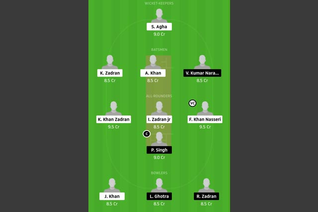 SVW vs FGB Dream11 Team - Experts Prime Team