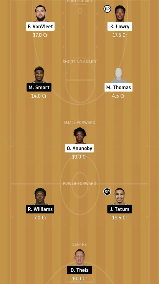 TOR vs BOS Dream11 Team - Experts Prime Team