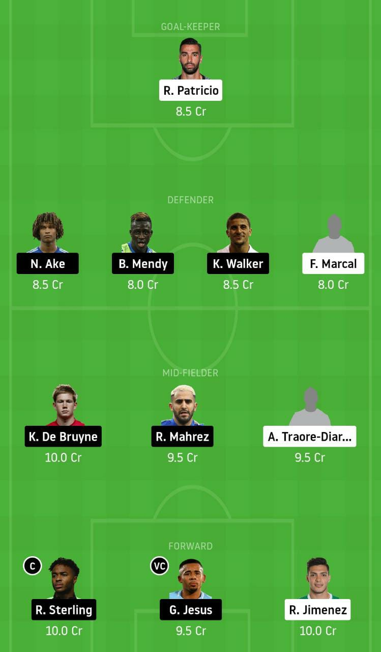 WOL vs MCI Dream11 Team - Experts Prime Team