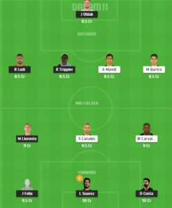 ATL vs RB Dream11 Team - Experts Prime Team
