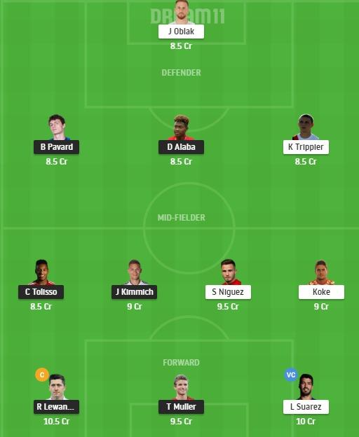 BAY vs ATL Dream11 Team - Experts Prime Team