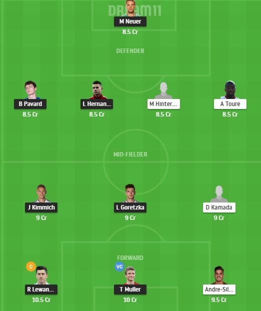 BAY vs FRK Dream11 Team - Experts Prime Team