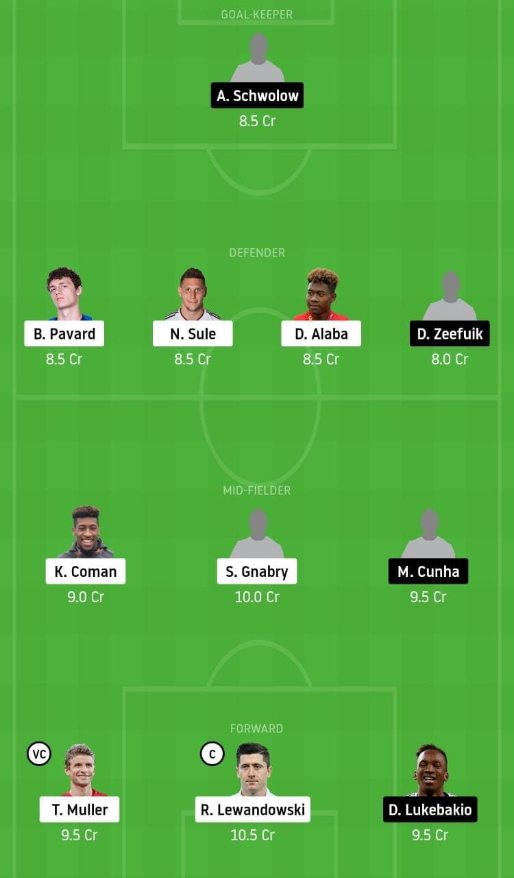 BAY vs HER Dream11 Team - Experts Prime Team