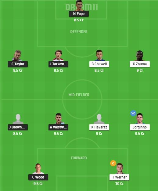 BUR vs CHE Dream11 Team - Experts Prime Team