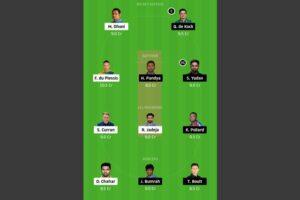 CSK vs MI Dream11 Team - Experts Prime Team