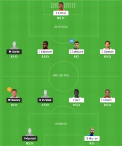 DER vs WAT Dream11 Team - Experts Prime Team