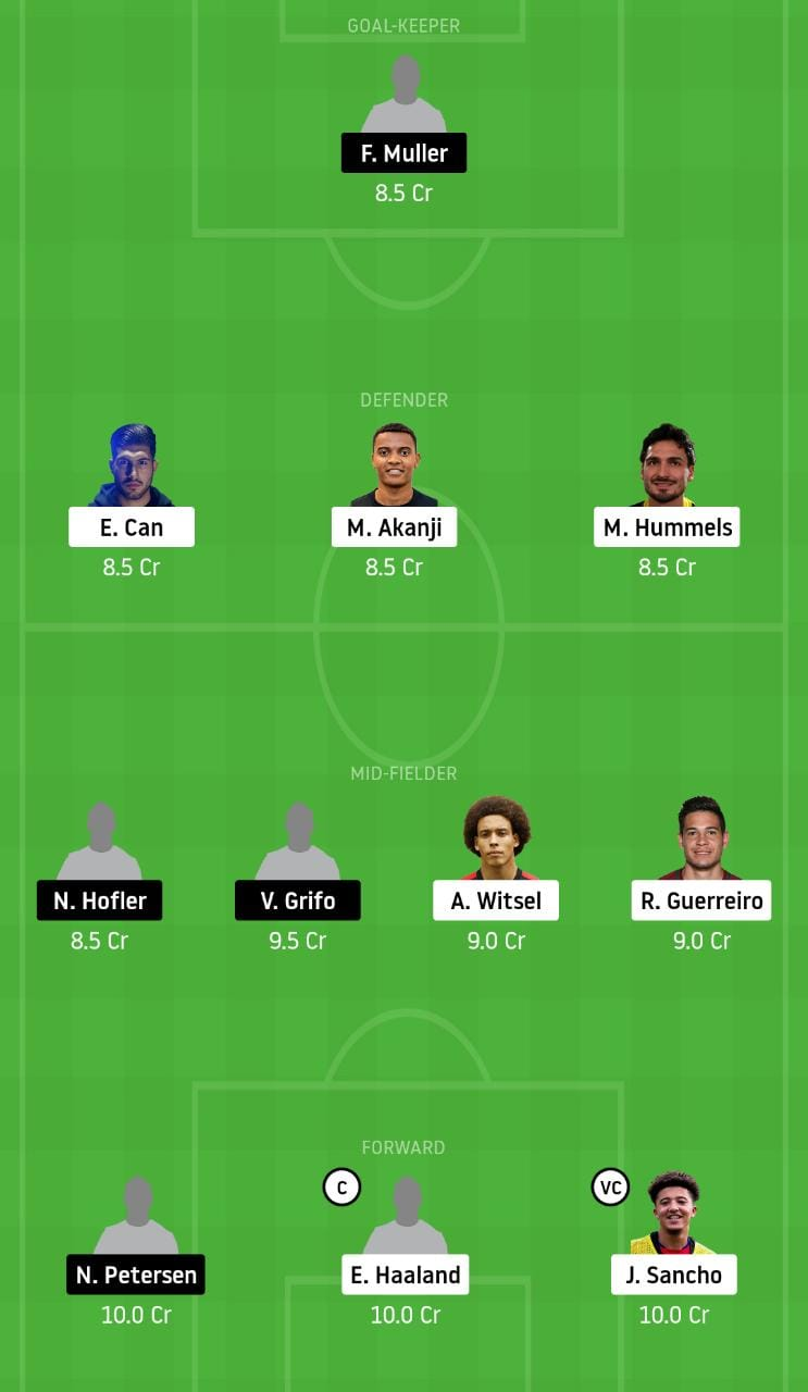 DOR vs FRB Dream11 Team - Experts Prime Team