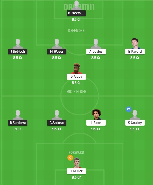 DRN vs BAY Dream11 Team - Experts Prime Team