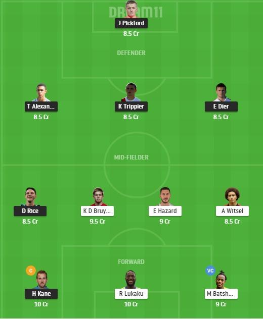 ENG vs BEL Dream11 Team - Experts Prime Team