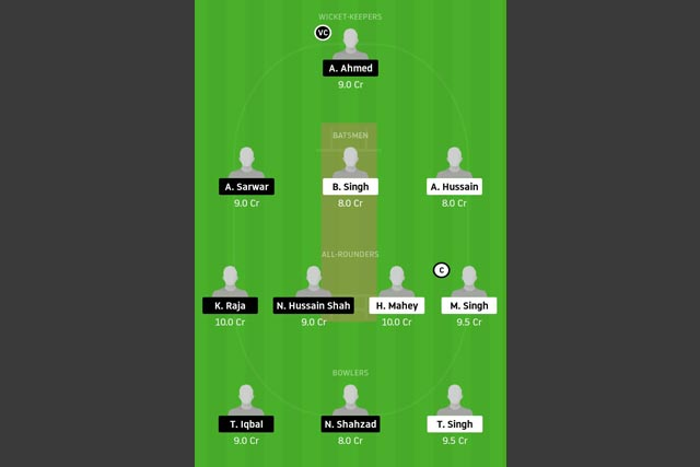 GCC vs FZL Dream11 Team - Experts Prime Team