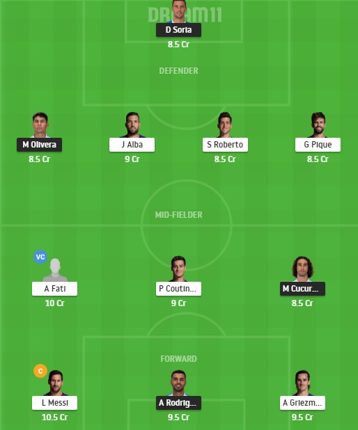 GEF vs BAR Dream11 Team - Experts Prime Team