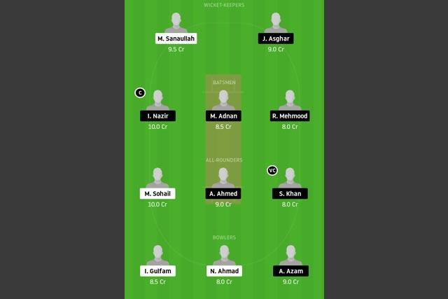 HCC vs PKCC Dream11 Team - Experts Prime Team