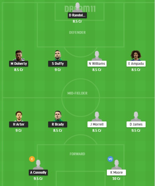 IRE vs WAL Dream11 Team - Experts Prime Team