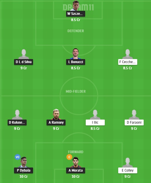 JUV vs VER Dream11 Team - Experts Prime Team