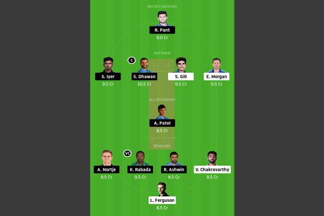 KOL vs DC Dream11 Team - Experts Prime Team