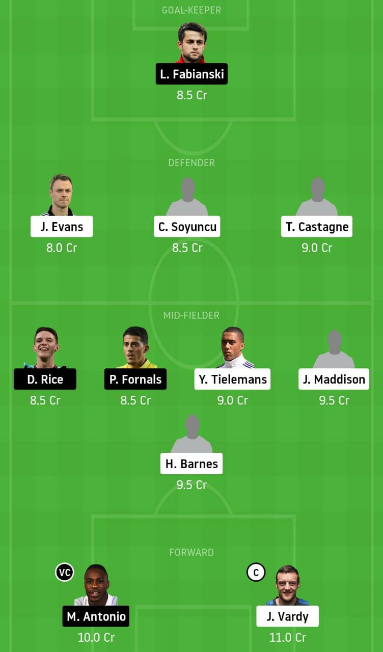 LEI vs WHU Dream11 Team
