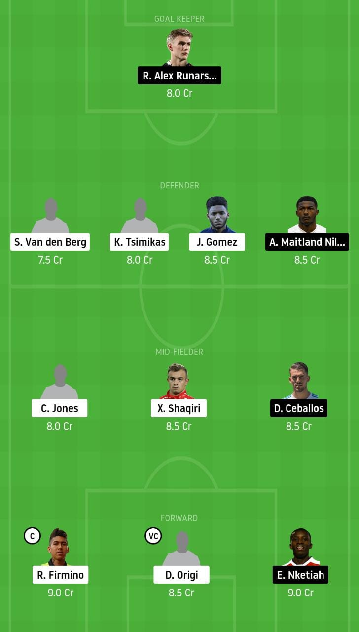 LIV vs ARS Dream11 Team - Experts Prime Team