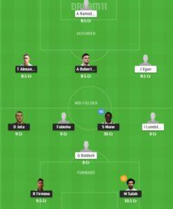 LIV vs SHF Dream11 Team - Experts Prime Team