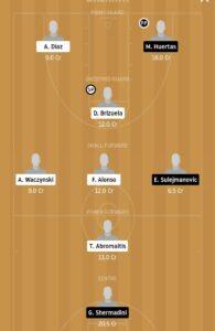 MAL vs TNF Dream11 Team - Experts Prime Team