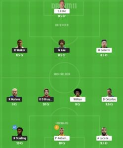 MCI vs ARS Dream11 Team - Experts Prime Team