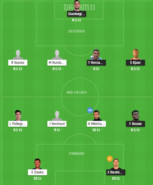 MIL vs ROM Dream11 Team - Experts Prime Team
