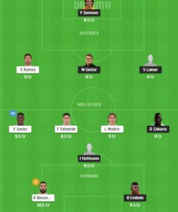 MOB vs RM Dream11 Team - Experts Prime Team