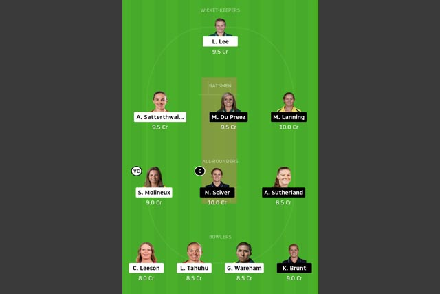 MR-W vs MS-W Dream11 Team - Experts Prime Team