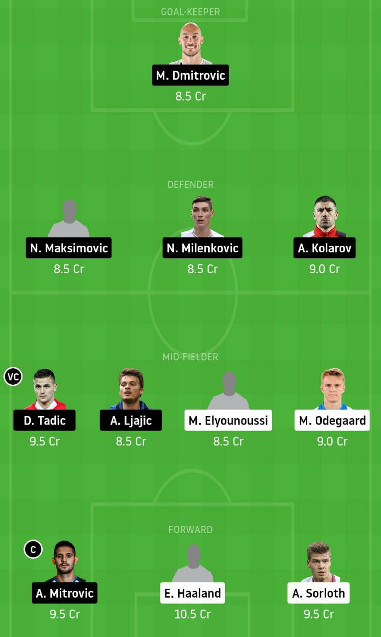 NOR vs SER Dream11 Team - Experts Prime Team