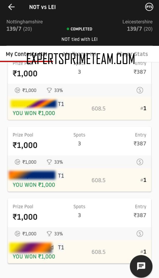 NOT-VS-LEI-Dream11-Results-