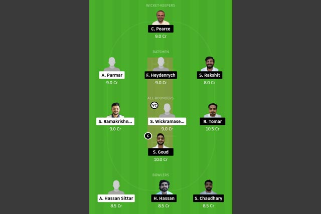 PCC vs VCC Dream11 Team - Experts Prime Team