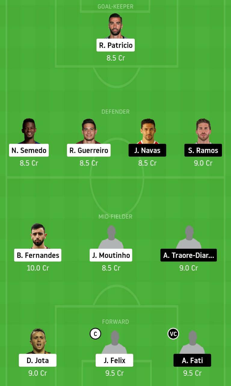 POR vs SPA Dream11 Team - Experts Prime Team