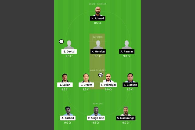 PRB vs PCC Dream11 Team - Experts Prime Team