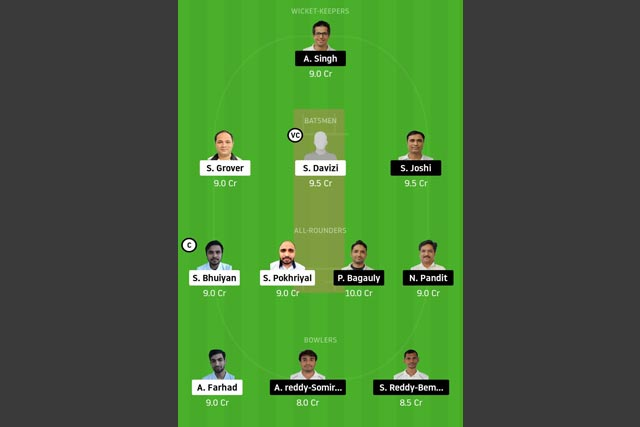 PRB vs UCC Dream11 Team - Experts Prime Team