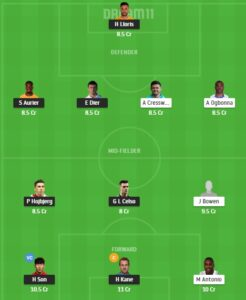TOT vs WHU Dream11 Team - Experts Prime Team